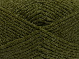 Fiber Content 50% Merino Wool, 50% Acrylic, Brand Ice Yarns, Dark Khaki, Yarn Thickness 5 Bulky Chunky, Craft, Rug, fnt2-65950