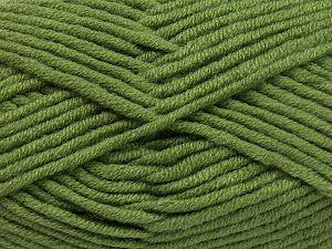 Fiber Content 50% Acrylic, 50% Merino Wool, Khaki, Brand Ice Yarns, Yarn Thickness 5 Bulky Chunky, Craft, Rug, fnt2-65951