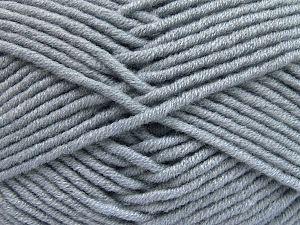 Fiber Content 50% Merino Wool, 50% Acrylic, Light Indigo Blue, Brand Ice Yarns, Yarn Thickness 5 Bulky Chunky, Craft, Rug, fnt2-65952