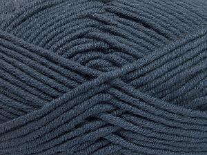 Fiber Content 50% Merino Wool, 50% Acrylic, Brand Ice Yarns, Dark Smoke Blue, Yarn Thickness 5 Bulky Chunky, Craft, Rug, fnt2-65953