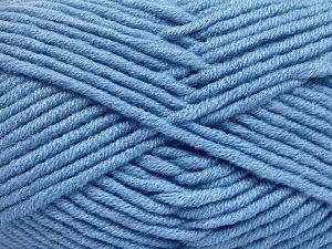 Fiber Content 50% Merino Wool, 50% Acrylic, Light Blue, Brand Ice Yarns, Yarn Thickness 5 Bulky Chunky, Craft, Rug, fnt2-65955