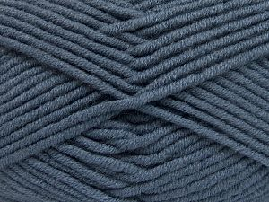 Fiber Content 50% Merino Wool, 50% Acrylic, Smoke Blue, Brand Ice Yarns, Yarn Thickness 5 Bulky Chunky, Craft, Rug, fnt2-65956