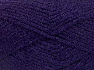 Fiber Content 50% Merino Wool, 50% Acrylic, Purple, Brand Ice Yarns, Yarn Thickness 5 Bulky Chunky, Craft, Rug, fnt2-65958