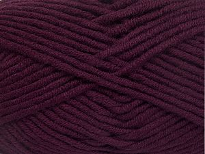 Fiber Content 50% Merino Wool, 50% Acrylic, Maroon, Brand Ice Yarns, Yarn Thickness 5 Bulky Chunky, Craft, Rug, fnt2-65959