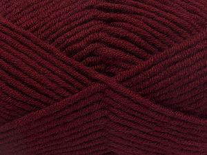 Fiber Content 50% Merino Wool, 50% Acrylic, Brand Ice Yarns, Burgundy, Yarn Thickness 5 Bulky Chunky, Craft, Rug, fnt2-65960