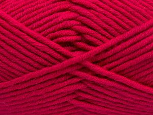 Fiber Content 50% Merino Wool, 50% Acrylic, Brand Ice Yarns, Fuchsia, Yarn Thickness 5 Bulky Chunky, Craft, Rug, fnt2-65965