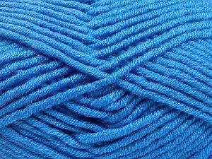 Fiber Content 50% Merino Wool, 50% Acrylic, Brand Ice Yarns, Blue, Yarn Thickness 5 Bulky Chunky, Craft, Rug, fnt2-65969