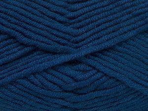 Fiber Content 50% Merino Wool, 50% Acrylic, Brand Ice Yarns, Dark Blue, Yarn Thickness 5 Bulky Chunky, Craft, Rug, fnt2-65970