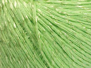 Fiber Content 70% Mercerised Cotton, 30% Viscose, Light Green, Brand Ice Yarns, Yarn Thickness 2 Fine Sport, Baby, fnt2-65988