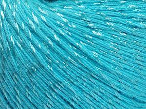Fiber Content 70% Mercerised Cotton, 30% Viscose, Turquoise, Brand Ice Yarns, Yarn Thickness 2 Fine Sport, Baby, fnt2-65996