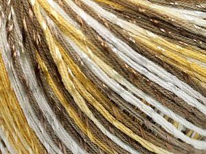 Fiber Content 70% Mercerised Cotton, 30% Viscose, White, Brand Ice Yarns, Gold, Camel, Yarn Thickness 2 Fine Sport, Baby, fnt2-65998