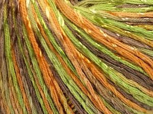 Fiber Content 70% Mercerised Cotton, 30% Viscose, Brand Ice Yarns, Green, Gold, Camel, Yarn Thickness 2 Fine Sport, Baby, fnt2-66001