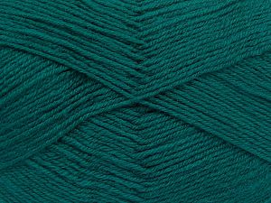 Contenido de fibra 60% Lana Merino, 40% Acrílico, Brand Ice Yarns, Emerald Green, Yarn Thickness 2 Fine Sport, Baby, fnt2-66050