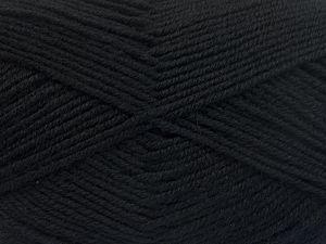 Contenido de fibra 60% Lana Merino, 40% Acrílico, Brand Ice Yarns, Black, Yarn Thickness 3 Light DK, Light, Worsted, fnt2-66072