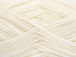 Contenido de fibra 60% Lana Merino, 40% Acrílico, White, Brand Ice Yarns, Yarn Thickness 3 Light DK, Light, Worsted, fnt2-66073