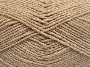 Contenido de fibra 60% Lana Merino, 40% Acrílico, Brand Ice Yarns, Beige, Yarn Thickness 3 Light DK, Light, Worsted, fnt2-66075