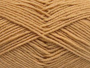 Contenido de fibra 60% Lana Merino, 40% Acrílico, Light Camel, Brand Ice Yarns, Yarn Thickness 3 Light DK, Light, Worsted, fnt2-66076