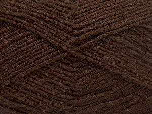 Contenido de fibra 60% Lana Merino, 40% Acrílico, Brand Ice Yarns, Dark Brown, Yarn Thickness 3 Light DK, Light, Worsted, fnt2-66078