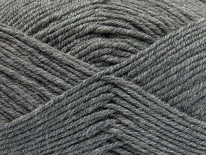 Contenido de fibra 60% Lana Merino, 40% Acrílico, Brand Ice Yarns, Grey, Yarn Thickness 3 Light DK, Light, Worsted, fnt2-66079