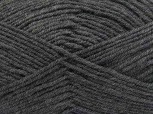 Contenido de fibra 60% Lana Merino, 40% Acrílico, Brand Ice Yarns, Dark Grey, Yarn Thickness 3 Light DK, Light, Worsted, fnt2-66080