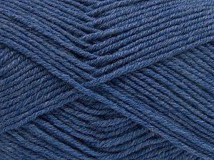 Contenido de fibra 60% Lana Merino, 40% Acrílico, Brand Ice Yarns, Blue, Yarn Thickness 3 Light DK, Light, Worsted, fnt2-66081