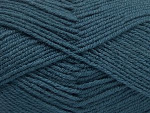 Contenido de fibra 60% Lana Merino, 40% Acrílico, Indigo Blue, Brand Ice Yarns, Yarn Thickness 3 Light DK, Light, Worsted, fnt2-66082
