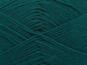 Contenido de fibra 60% Lana Merino, 40% Acrílico, Brand Ice Yarns, Emerald Green, Yarn Thickness 3 Light DK, Light, Worsted, fnt2-66083