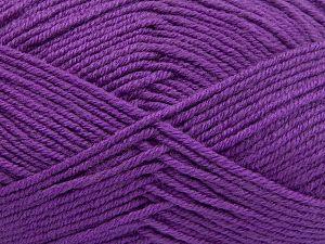 Contenido de fibra 60% Lana Merino, 40% Acrílico, Lilac, Brand Ice Yarns, Yarn Thickness 3 Light DK, Light, Worsted, fnt2-66085