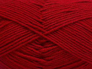 Contenido de fibra 60% Lana Merino, 40% Acrílico, Brand Ice Yarns, Dark Red, Yarn Thickness 3 Light DK, Light, Worsted, fnt2-66088