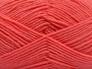 Contenido de fibra 60% Lana Merino, 40% Acrílico, Salmon, Brand Ice Yarns, Yarn Thickness 3 Light DK, Light, Worsted, fnt2-66089