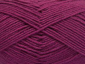 Contenido de fibra 60% Lana Merino, 40% Acrílico, Brand Ice Yarns, Dark Orchid, Yarn Thickness 3 Light DK, Light, Worsted, fnt2-66093