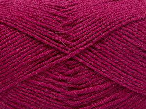 Contenido de fibra 60% Lana Merino, 40% Acrílico, Brand Ice Yarns, Dark Fuchsia, Yarn Thickness 3 Light DK, Light, Worsted, fnt2-66094