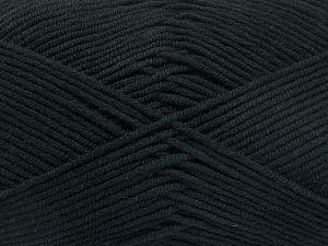 Fiber Content 50% Cotton, 50% Acrylic, Brand Ice Yarns, Black, Yarn Thickness 2 Fine Sport, Baby, fnt2-66096