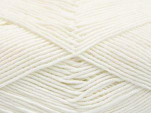 Fiber Content 50% Cotton, 50% Acrylic, White, Brand Ice Yarns, Yarn Thickness 2 Fine Sport, Baby, fnt2-66097
