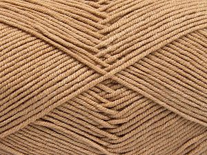 Fiber Content 50% Cotton, 50% Acrylic, Light Camel, Brand Ice Yarns, Yarn Thickness 2 Fine Sport, Baby, fnt2-66103