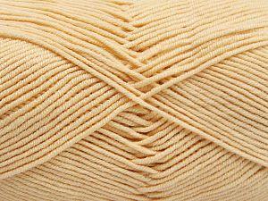 Fiber Content 50% Cotton, 50% Acrylic, Brand Ice Yarns, Dark Cream, Yarn Thickness 2 Fine Sport, Baby, fnt2-66104