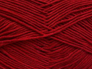 Fiber Content 50% Cotton, 50% Acrylic, Brand Ice Yarns, Dark Red, Yarn Thickness 2 Fine Sport, Baby, fnt2-66112
