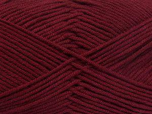Fiber Content 50% Acrylic, 50% Cotton, Brand Ice Yarns, Burgundy, Yarn Thickness 2 Fine Sport, Baby, fnt2-66113