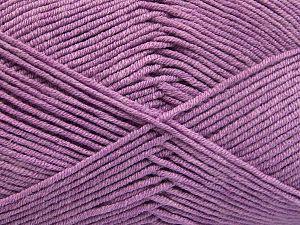 Fiber Content 50% Acrylic, 50% Cotton, Lilac, Brand Ice Yarns, Yarn Thickness 2 Fine Sport, Baby, fnt2-66114