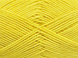 Fiber Content 50% Cotton, 50% Acrylic, Yellow, Brand Ice Yarns, Yarn Thickness 2 Fine Sport, Baby, fnt2-66116