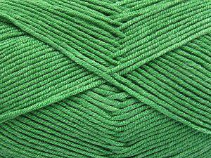 Fiber Content 50% Cotton, 50% Acrylic, Brand Ice Yarns, Green, Yarn Thickness 2 Fine Sport, Baby, fnt2-66119