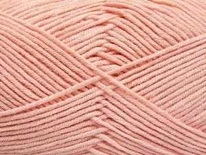 Fiber Content 50% Cotton, 50% Acrylic, Light Pink, Brand Ice Yarns, Yarn Thickness 2 Fine Sport, Baby, fnt2-66120