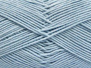 Fiber Content 50% Acrylic, 50% Cotton, Brand Ice Yarns, Baby Blue, Yarn Thickness 2 Fine Sport, Baby, fnt2-66124