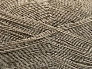 Very thin yarn. It is spinned as two threads. So you will knit as two threads. Yardage information is for only one strand. İçerik 100% Akrilik, Light Camel, Brand Ice Yarns, Yarn Thickness 1 SuperFine Sock, Fingering, Baby, fnt2-66131