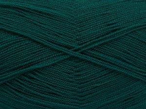 Very thin yarn. It is spinned as two threads. So you will knit as two threads. Yardage information is for only one strand. Fiber Content 100% Acrylic, Brand Ice Yarns, Emerald Green, Yarn Thickness 1 SuperFine Sock, Fingering, Baby, fnt2-66142