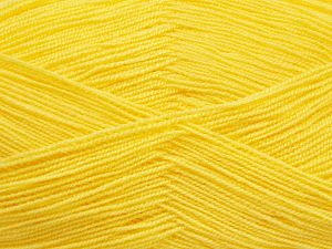Very thin yarn. It is spinned as two threads. So you will knit as two threads. Yardage information is for only one strand. İçerik 100% Akrilik, Lemon Yellow, Brand Ice Yarns, Yarn Thickness 1 SuperFine Sock, Fingering, Baby, fnt2-66147