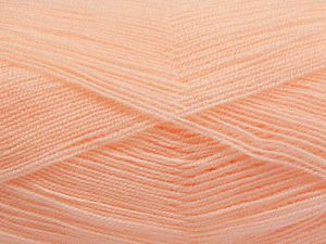 Very thin yarn. It is spinned as two threads. So you will knit as two threads. Yardage information is for only one strand. İçerik 100% Akrilik, Light Salmon, Brand Ice Yarns, Yarn Thickness 1 SuperFine Sock, Fingering, Baby, fnt2-66153