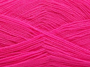 Very thin yarn. It is spinned as two threads. So you will knit as two threads. Yardage information is for only one strand. Fiber Content 100% Acrylic, Brand Ice Yarns, Candy Pink, Yarn Thickness 1 SuperFine Sock, Fingering, Baby, fnt2-66166