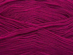 Very thin yarn. It is spinned as two threads. So you will knit as two threads. Yardage information is for only one strand. Fiber Content 100% Acrylic, Brand Ice Yarns, Dark Fuchsia, Yarn Thickness 1 SuperFine Sock, Fingering, Baby, fnt2-66170