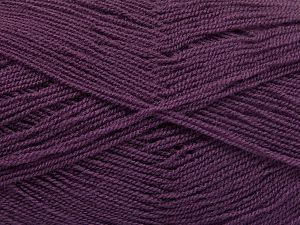 Very thin yarn. It is spinned as two threads. So you will knit as two threads. Yardage information is for only one strand. Fiber Content 100% Acrylic, Lavender, Brand Ice Yarns, Yarn Thickness 1 SuperFine Sock, Fingering, Baby, fnt2-66176